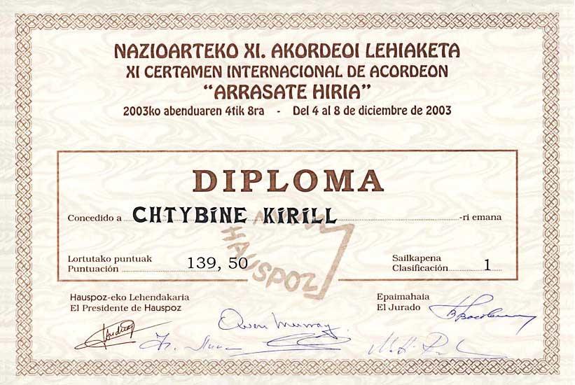 Диплом Кирилла Штыбина